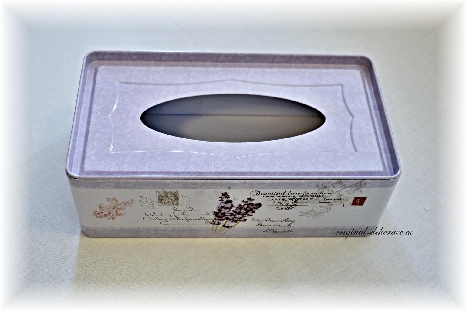 85ee291cc Zásobník (box) na papírové kapesníky - levandule F   Originální ...
