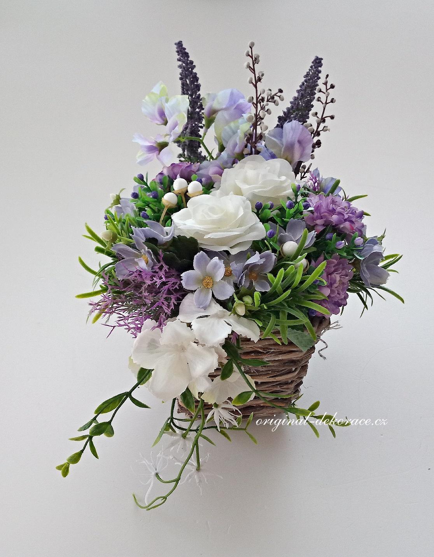 Dekorace z umělých květin - fialová  3d3bcddb8b