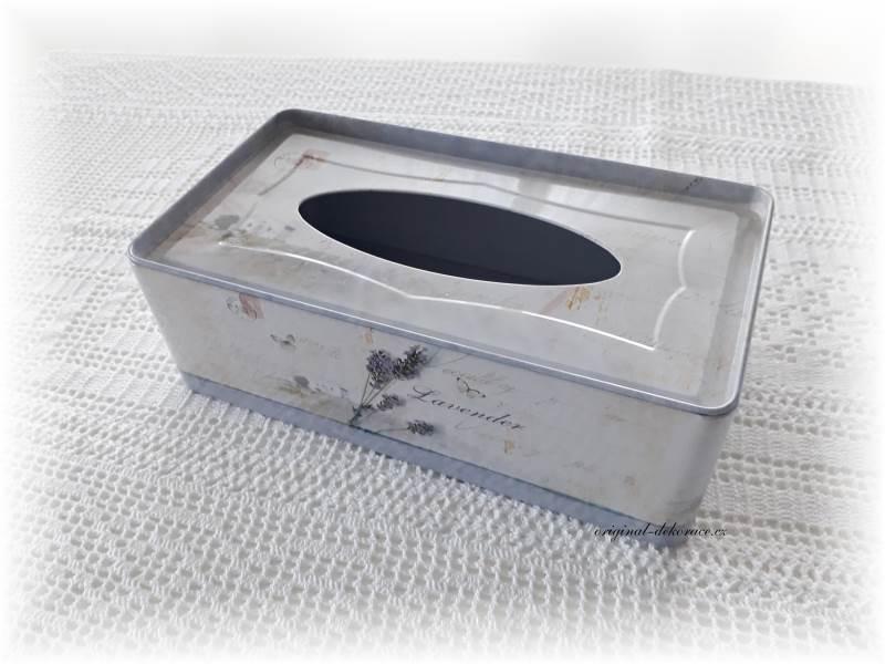 5528804a0 Zásobník (box) na papírové kapesníky s levandulí   Originální ...